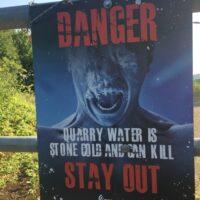 Danger Quarry Water Poster Graphic -situ -