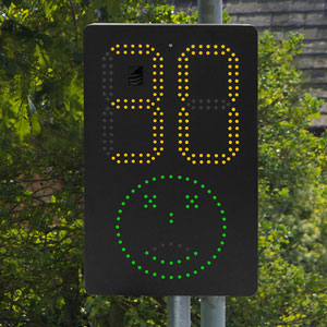 SAM smiley Activated Message Sign from Messagemaker Displays and Stocksigns